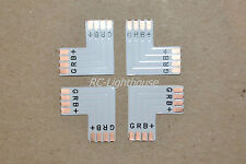 """5050 RGB 4 PIN """"L"""" Connector for LED Light Strips Right Angle 4pc"""