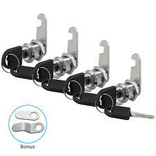 4Pcs 20mm Cylinder Cam Key Locks Tool Box File Cabinet Desk Drawer with 8 Keys