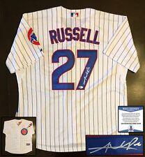Chicago Cubs Addison Russell Signed Jersey Beckett BAS COA