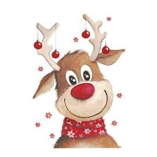 Christmas Deer Sticker On Clothes Patches Thermal Iron-on Transfers For Clothing
