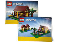 Lego Creator 5766 3In1 Log Cabin Instruction Books Booklets Only NO Lego BRICKS