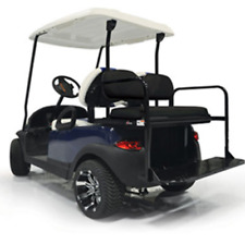 GTW Golf Cart Yamaha Black Rear Flip Seat Kit Fits Models G14 to G22