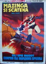 Great Mazinger Italian 2F movie poster 39x55 Go Nagai Anime