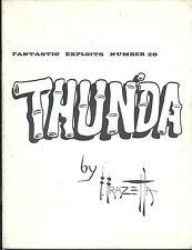 RARE MICRO TIRAGE BD AMÉRICAINE + FRANK FRAZETTA : THUNDA + DAN BRAND AND TIPI