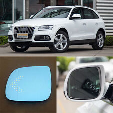Rearview Mirror Blue Glasses LED Turn Signal Power Heating For Audi Q5/Q7