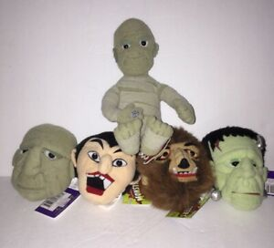 Side Show Toys Universal Studios Monsters Screamers Plush Heads New with Tags