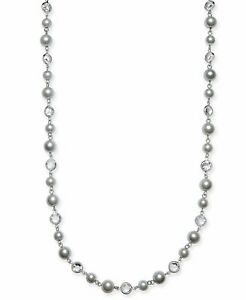 Charter Club Crystal & Imitation Pearl Strand Necklace