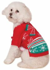 Ugly Christmas Sweater with Bow Pet Costume Style # 580048 Size Medium Free Ship
