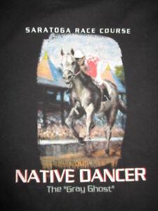 "NATIVE DANCER ""The Gray Ghost"" SARATOGA RACE (XL) T-Shirt"