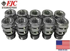 (10) A/C Service Schrader Valve High Side R-134a Port Adapter OE Style Fitting