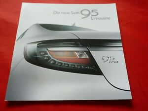 SAAB 9-5 YS3G Limousine Prospekt Brochure Depliant Folleto von 2009