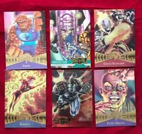 Marvel Metal 1995 Fleer 6 Trading Cards Thing Fantastic Four Ghost Rider Phoenix