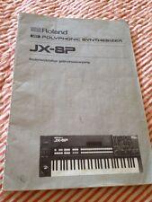 Roland Jx-8p Manual - Dutch