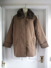 size 18 / 20 claire neuville light brown womens coat jacket winter Ladies Work