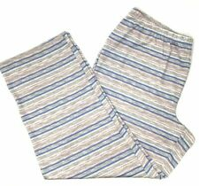 $107 Charter Club Women'S Grey Multicolor Striped Pull On Lounge Pants Size Xl