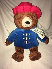 "Kohl's Cares Paddington Bear 14"" Soft Stuffed Plush New With Tags NIP Toy"