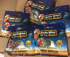 Angry Birds Star Wars Phone Danglers, Lot Of 5 All Different Figurines