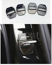 Schwarz AMG Edelstahl Car Türschlösser Schutzabdeckung Für Benz B180 C E M S GLA