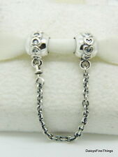 NEW! AUTHENTIC PANDORA CHARM LOVE CONNECTION SAFETY CHAIN #791088-05   P