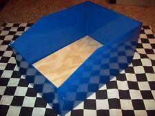 "SPECIAL ORDER 9 COBALT BLUE METAL RABBIT NEST BOXES 9 1/2"" x 13 1/2"" x 7"" lot"