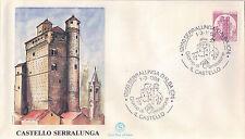 FDC ITALIA PRIMO GIORNO DI EMISSIONE 1988 CASTELLO SERRALUNGA ALBA CUNEO  7-48