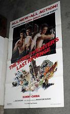 THE STREETFIGHTER'S LAST REVENGE orig 1982 one sheet movie poster SONNY CHIBA