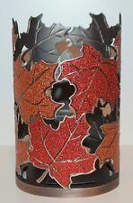 BATH & BODY WORKS RED ORANGE SPARKLY LEAVES HAND SOAP SLEEVE HOLDER FOAMING DEEP
