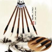 1~3Pcs Wool Chinese Calligraphy Brush Pen Art Painting Ink Storage Writing Tool
