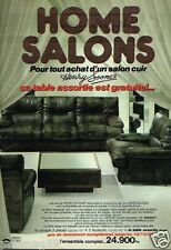 Publicité advertising 1984 Mobilier canapé Cuir Home salons