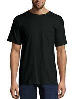 Hanes Black Label Men's Premium Beefy-T Short Sleeve T-Shirt With Pocket, Lg.