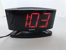 Sharp Alarm Clock Black Large Red Numbers SPC033