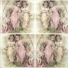 4x Paper Napkins for Decoupage Decopatch Sagen Vintage Decoupage Fairies