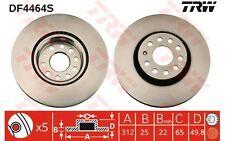 TRW Disco de freno (x2) Antes 312mm ventilado SEAT RENAULT SC?NIC DF4464S