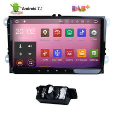 """9"""" HD Touch Screen Car Stereo GPS Navi Radio Android 7.1 Quad-Core BT 4G For VW"""