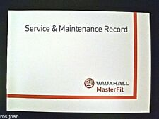 Vauxhall ZAFIRA TOURER Service History Record Book Models  Brand New Genuine