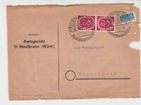 Germany 1952 Slogan Cancels Obligatory Tax Aid for Berlin Stamps Cover Ref 27324