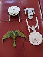 Lot 4 STAR TREK NCC-1864 1701 Romulan Warbird RELIANT CBS 0689 EA Metal&Plastic