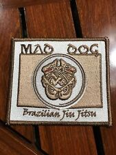 "MAD DOG BRAZILIAN JIN JITSU SEW ON PATCH 4"" X 3.5"""