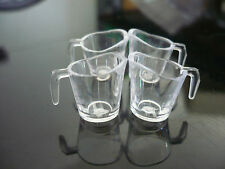 4 Empty Acrylic Plastic Measuring Cup Dollhouse Miniatures Supply Deco Kitchen