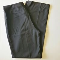 Talbots Womens Straight Leg Slacks Size 8 Black Pants