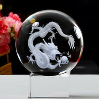 Crystal Dragon Ball Statue Bureau Decorative Animal Dragon Statue Artisanat 8cm