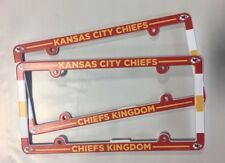 Lot of 2 Kansas City Chiefs Car Truck License Plate Frames NEW - THIN PROFILE
