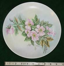 """CABINET PLATE FINE GERMAN PORICLIAN PINK ROSES HAND PAINTED & SIGNED 10"""" ARSBERG"""