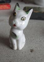 "Vintage 1940s Occupied Japan Porcelain Cute Cat Figurine 2 1/4"" Tall"