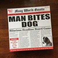 Man Bites Dog Hilarious Headline Board Game University Games - Sealed New In Box
