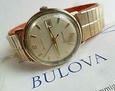 Vintage 1960's Men's Bulova Selfwinding 10k RGP Swiss Automatic Watch 4 REPAIR