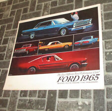1965 Ford Model Booklet Mustang, Falcon, Fairlane, Thunderbird, Galaxie, Wagons