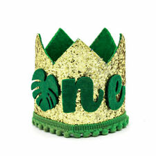 Baby 1st Birthday Crown of Leave Jungle Animal Theme One Party Decoration Hat