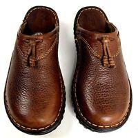 Born Leather Clog Knoll Tan Pennywise Slide Slip On Comfort Shoe Tassel 7 38