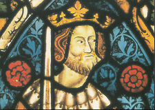 Religion Postcard - Stained Glass Window,Shrewsbury St Mary,Head of King Asa LE2